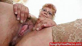 Woolly grandma unshaved twat...