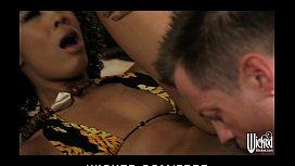 Horny Ebony beauty is...