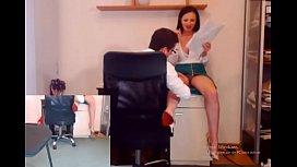Secretary seduce boss...