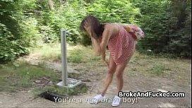 Pounding hot bikini teen...