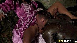 Warrior gets pleasured by...
