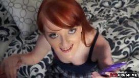 Redhead teen Krystal Orchid...