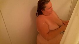BBW Sadie Shower Masturbation...
