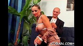 Mistress humiliates guy during lewd femdom fetish action