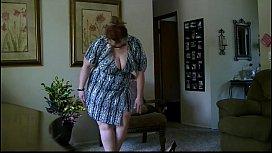 Bbw milf striptease from...