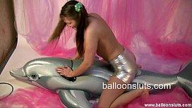Megan dry humps dolphin...