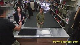 Customer Takes Cock In...