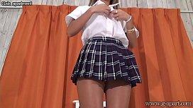 Japanese Schoolgirl Changes into...