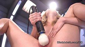 Blonde experienced fast orgasm...