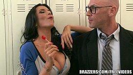 Brazzers - Locker room threesome...