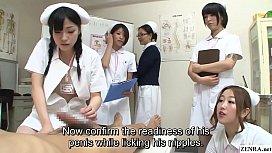 JAV nurses CFNM handjob...