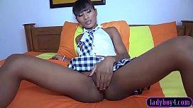 Ladyboy schoolgirl teen hottie...