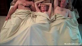 Insatiable Cockslut Granny Threesome...