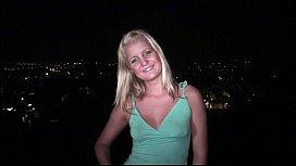 Cute young blonde teen...