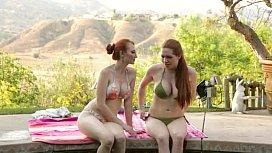 Redhead lesbians at Mommy...