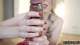 Candy May - BBC handjob...