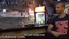 Sexy waitress fucks hard...
