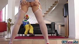 Stockings brit clown cum...
