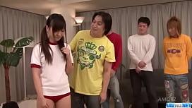 Asian Ryo Asaka sure loves fucking in group partywank