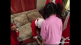 """Santa """"Gangbang"""" Claus with Nathalie dulcemoon"""