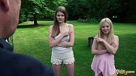 2 petite teens both...