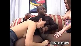 Interracial foursome: Big black...