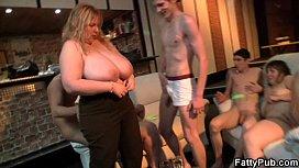 Super huge tits fatty banging at bbw party