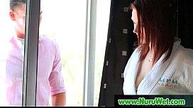 Nuru massage Sex with Busty Japanese Babe 12
