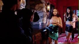 Naughty Missy Stone fed jizz after public penetration