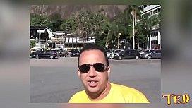 Peguei as duas em frente ao p&atilde_o de a&ccedil_ucar no Rio de Janeiro