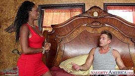 Ebony gf in red...