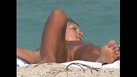Nudist beach...