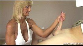Horny Granny Jerking Off...