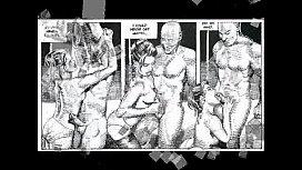 Beautiful Woman BDSM Orgy...
