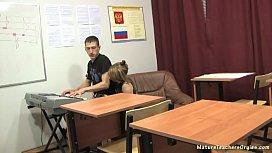 Russian mature teacher 10...