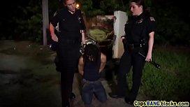 Outdoor big tits cops...
