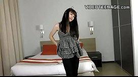 Brunette teen first anal...