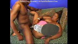big black cock fucks anal pussy