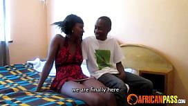 Real African Amateur Teen Blows Boyfriend
