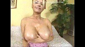 Big tits blonde gets so horny