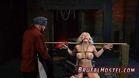 Hardcore anal strapon first...