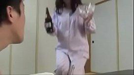 Japanese Asian Mom and Son drunken Hard Fuck