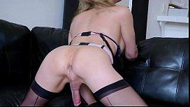 Tranny in sexy lingerie...