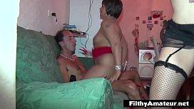 Amateur Orgy! The milf...