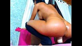 Sexy Latina Fucking Dildo...