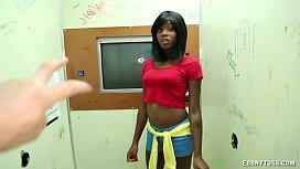 Sexy Ebony Enjoys Jerking...