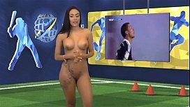 Big tits naked news...