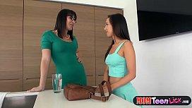 Hot teen gets her...