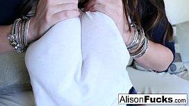 Big Tit Alison rubs...