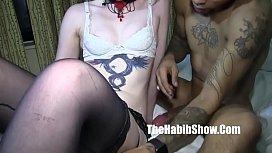 White girl getting dickrammed...